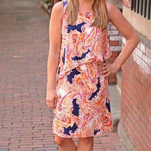 J. Jill sleeveless paisley dress